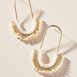 Anthropologie Lainey Beaded Drop Earrings NWT